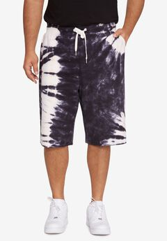 MVP Collections® Tie-Dye Shorts, ONYX SKY PINK SALT