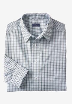 Signature Fit Long-Sleeve Broadcloth Dress Shirt, SKY BLUE CHECK