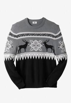 Holiday Crewneck Sweater, DEER