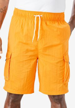 KS Island™ Cargo Swim Trunks, FLAME ORANGE