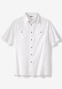 Short Sleeve Solid Sport Shirt,