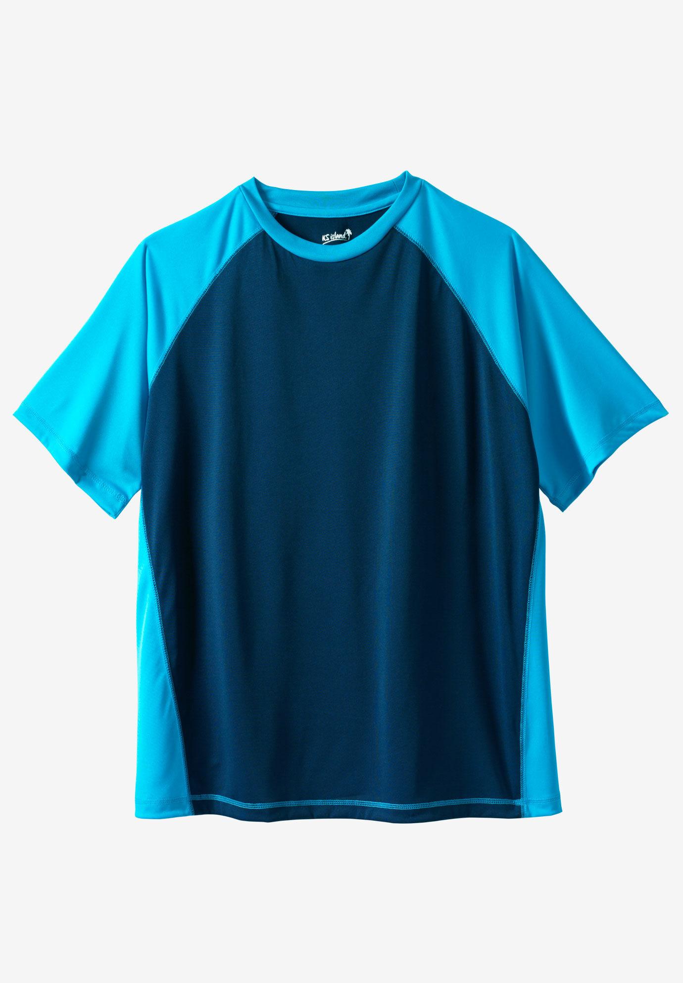 KS Island Mens Big /& Tall Island Print Rayon Shirt