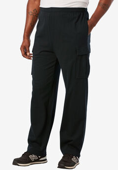 Lightweight Cargo Sweatpants, BLACK