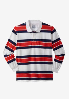 Liberty Blues® Long-Sleeve Polo Shirt , BRICK RED RUGBY
