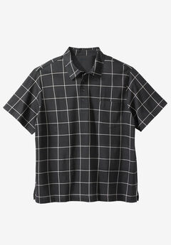 Lightweight Pocket Golf Polo Shirt, BLACK WINDOW PANE