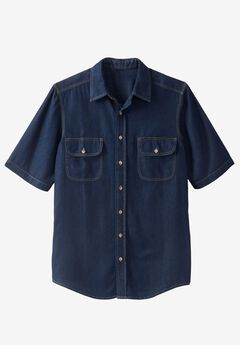 Short-Sleeve Renegade Shirt by Boulder Creek®, INDIGO DENIM