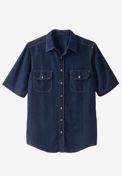 Short-Sleeve Renegade Shirt by Boulder Creek®, INDIGO DENIM