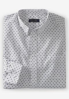 No Hassle® Long-Sleeve Button-Down Collar Dress Shirt by KS Signature®, PINDOT