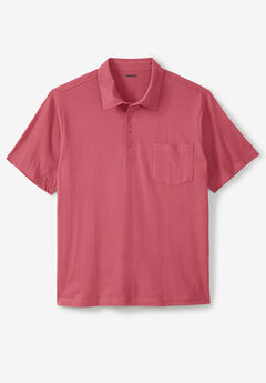 Lightweight Pocket Golf Polo Shirt, DARK SALMON
