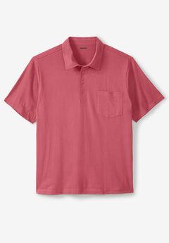 Lightweight Pocket Golf Polo Shirt, DARK SALMON