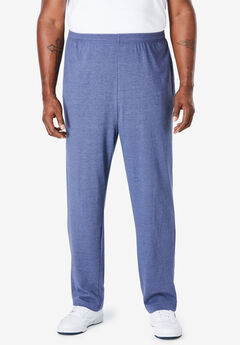 Lightweight Jersey Sweatpants, HEATHER SLATE BLUE