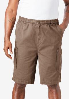 "Boulder Creek® Renegade 9"" Full Elastic Waist Single Pocket Cargo Shorts,"