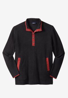 Explorer Fleece Quarter Snap Jacket by Boulder Creek®, BLACK