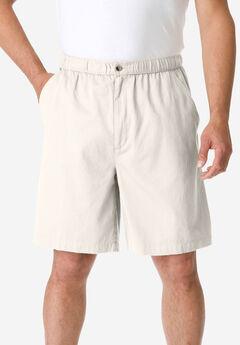 Knockarounds® 8&#34 Full Elastic Plain Front Shorts, STONE