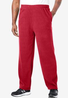 Explorer Fleece Open-Bottom Sweatpants, RED