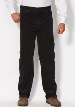 Liberty Blues® 5-Pocket Invisible Stretch Corduroy Pants, BLACK