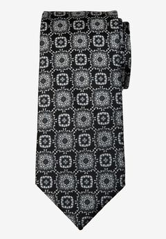 KS Signature Extra Long Classic Fancy Tie, STEEL MEDALLION