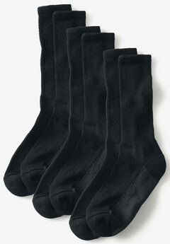 3-Pack Full Length Cushioned Crew Socks,