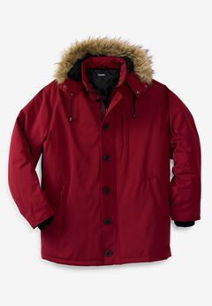 Arctic Down Parka with Detachable Hood and Insulated Cuffs,