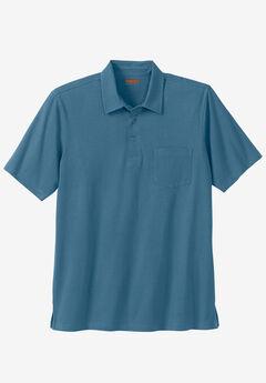 Heavyweight Jersey Polo Shirt, SLATE BLUE
