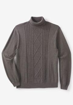 Liberty Blues™ Shoreman's Cable Knit Turtleneck Sweater,