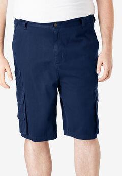 Boulder Creek® Side-Elastic Twill Cargo Shorts,