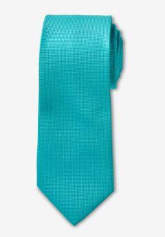KS Signature Extra Long Classic Textured Tie, TIDAL GREEN