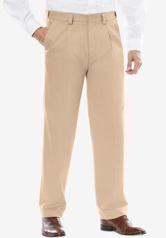 KingSize Mens Big /& Tall Classic Fit Wrinkle-Free Expandable Waist Plain Front Pants