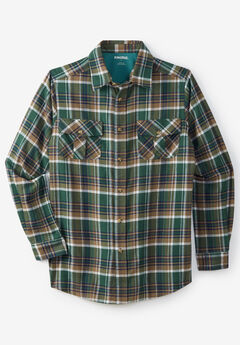 Plaid Flannel Shirt, HUNTER PLAID