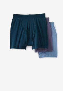 Cotton Boxer Briefs 3-Pack, ASSORTED COLORS