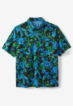 Floral Polo by KS Island™, BRIGHT BLUE FLORAL