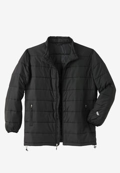 KS Sport™ Lightweight Packable Puffer Jacket, BLACK