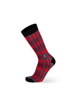 The Red Plaid Socks,