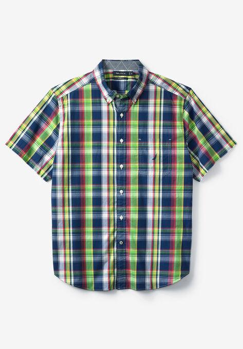 5e57b252b5f1af Surf Plaid Woven Shirt by Nautica®| Big and Tall Casual Shirts ...