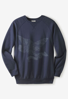 Liberty Blues® Fleece Crewneck Pullover, NAVY EAGLE
