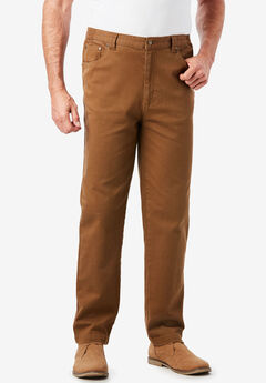 Liberty Blues® Relaxed Fit 5-Pocket Stretch Jeans, BROWN
