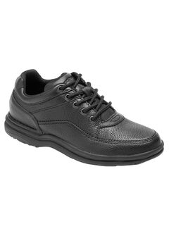 World Tour Classic Walking Shoe by Rockport®, BLACK TUMBLED