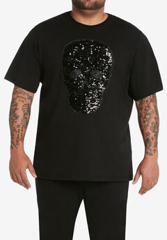 MVP Collections® Embellished Skull T-Shirt,