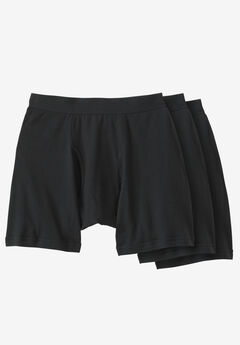 Cotton Cycle Briefs 3-Pack, BLACK