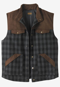 BOULDER CREEK™ PLAID MULTI-POCKET VEST, BUFFALO PLAID