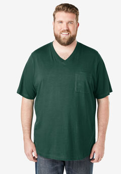 Shrink-Less™ Lightweight V-Neck Pocket T-Shirt,