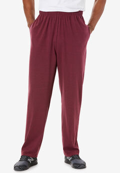 Lightweight Jersey Sweatpants, HEATHER DEEP BURGUNDY