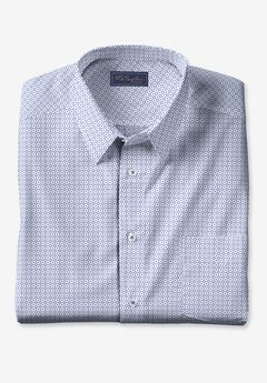 KS Signature No Hassle® Long-Sleeve Dress Shirt, ROYAL BLUE GEO