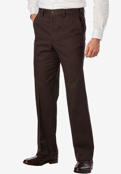 Wrinkle-Resistant Expandable Waist Plain Front Pants,