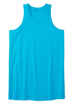 Longer-Length Shrink-Less™ Lightweight Muscle Tank, ELECTRIC TURQUOISE
