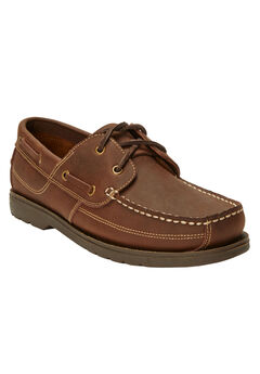 Hidden Velcro Leather Boat Shoe,