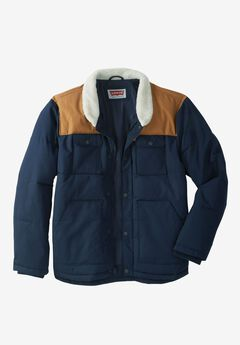 Woodsman Puffer Trucker Jacket by Levi's®, NAVY TAN