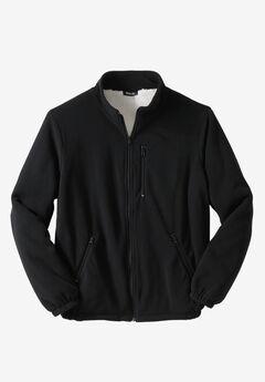 Explorer Fleece Sherpa Jacket, BLACK