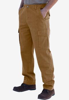 Boulder Creek® Side-Elastic Waist Single Pocket Cargo Pants, BOULDER BROWN