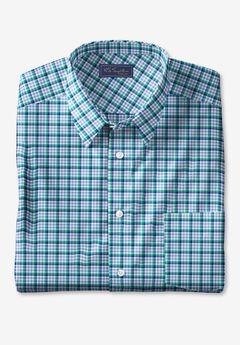 KS Signature No Hassle® Long-Sleeve Dress Shirt, SKY BLUE CHECK